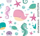 seamless pattern for kids with...   Shutterstock .eps vector #1013751994