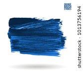 blue brush stroke and texture.... | Shutterstock .eps vector #1013756194