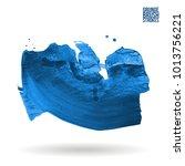 blue brush stroke and texture.... | Shutterstock .eps vector #1013756221