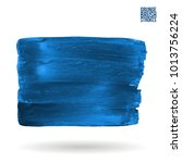 blue brush stroke and texture.... | Shutterstock .eps vector #1013756224