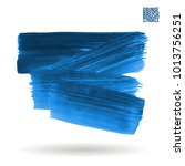 blue brush stroke and texture.... | Shutterstock .eps vector #1013756251