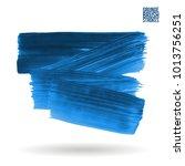 blue brush stroke and texture.... | Shutterstock .eps vector #1013756251