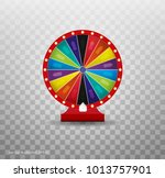 colorful wheel of luck or... | Shutterstock .eps vector #1013757901