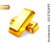 gold bars isolated. vector... | Shutterstock .eps vector #1013762695