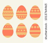 set of colored isolated easter... | Shutterstock .eps vector #1013764465