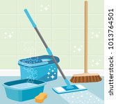 house cleaning service... | Shutterstock . vector #1013764501
