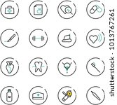 line vector icon set   doctor... | Shutterstock .eps vector #1013767261
