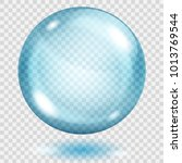 big translucent light blue...   Shutterstock .eps vector #1013769544