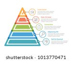 pyramid infographic template... | Shutterstock .eps vector #1013770471
