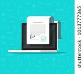 online electronic smart... | Shutterstock .eps vector #1013777365