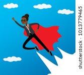 african american woman looking... | Shutterstock .eps vector #1013779465