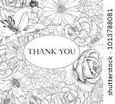 vintage vector floral frame in... | Shutterstock .eps vector #1013788081