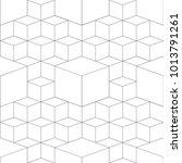 geometric abstract 3d grid... | Shutterstock . vector #1013791261