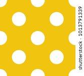 polka dot pattern yellow...   Shutterstock .eps vector #1013791339