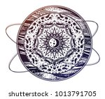 abstract planet with space...   Shutterstock .eps vector #1013791705