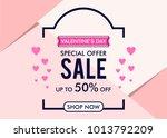 sale banner valentines day...   Shutterstock .eps vector #1013792209