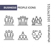 business people group icons set ... | Shutterstock .eps vector #1013797321