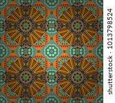 mandalas kaleidoscope seamless... | Shutterstock .eps vector #1013798524