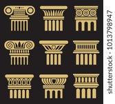 set of golden ancient rome... | Shutterstock .eps vector #1013798947