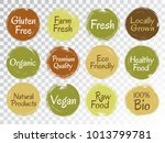 vector organic labels  bio... | Shutterstock .eps vector #1013799781