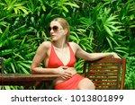 beautiful girl fashion people... | Shutterstock . vector #1013801899