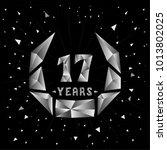 17 years anniversary design... | Shutterstock .eps vector #1013802025