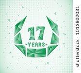 17 years anniversary design... | Shutterstock .eps vector #1013802031