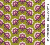 seamless retro pattern with... | Shutterstock .eps vector #1013804941