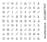 dental icon set. collection of... | Shutterstock .eps vector #1013807947