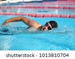 swim competition swimmer... | Shutterstock . vector #1013810704