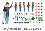 photographer male. animated man ... | Shutterstock . vector #1013811991