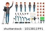 photographer male. animated man ...   Shutterstock . vector #1013811991