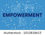 conceptual business... | Shutterstock . vector #1013818615