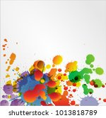 abstract acrylic hand painted... | Shutterstock .eps vector #1013818789
