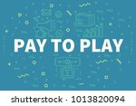 conceptual business... | Shutterstock . vector #1013820094