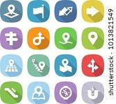 flat vector icon set   pointer... | Shutterstock .eps vector #1013821549