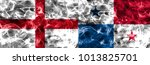 england vs panama smoke flag   Shutterstock . vector #1013825701
