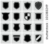 shield frames icons set. | Shutterstock .eps vector #101383249