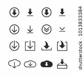 download icon set on white...   Shutterstock .eps vector #1013833384
