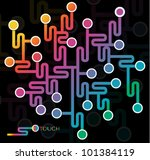 abstract network illustration ... | Shutterstock .eps vector #101384119