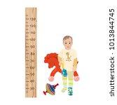 height chart for children... | Shutterstock .eps vector #1013844745