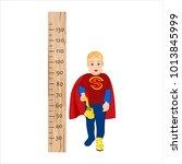 height chart for children.the... | Shutterstock .eps vector #1013845999