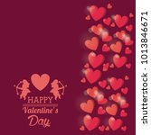happy valentines day card | Shutterstock .eps vector #1013846671