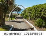 whale bone arches in public... | Shutterstock . vector #1013848975