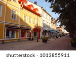 traditional houses  vaxholm.... | Shutterstock . vector #1013855911