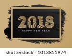 christmas banner 2018 happy new ... | Shutterstock . vector #1013855974
