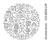 circle with love symbols in...   Shutterstock .eps vector #1013856139
