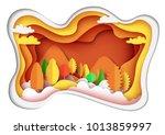 nature landscape of autumn... | Shutterstock .eps vector #1013859997