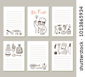 page template set for notes or... | Shutterstock .eps vector #1013865934