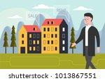 real estate concept. realtor... | Shutterstock .eps vector #1013867551